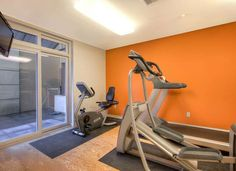 If you're a fitness guru, paint your workout room a shade of orange to keep you motivated and energized.