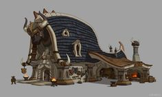 Dwarf - blacksmith shop, MEMESU . on ArtStation at https://www.artstation.com/artwork/wN2WO