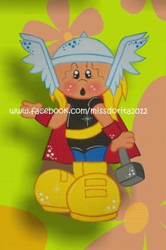 Ahora otro Super Heroe a pedido de muchas aqui esta Thor ideal para decorar una fiesta de cumpleaños o para decorar la habitación de los ch...