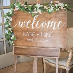 Customized Wedding Welcome Sign: Give your guests a personalized welcome to your wedding weekend with a charmingly rustic wooden sign like this one. Put it at the entrance to the ceremony, reception, rehearsal dinner— wherever your friends and family will be arriving!