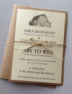 Rustic Barn Wedding Invitations by LemonInvitations on Etsy, $2.00