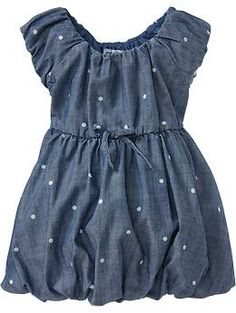 Polka-Dot Chambray Bubble Dresses for Baby | Old Navy