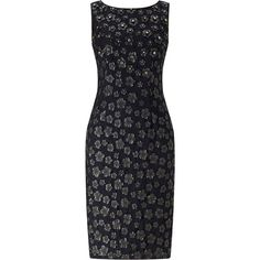 Adrianna Papell Leather Flower Shift Dress, Black (340 CAD) ❤ liked on Polyvore featuring dresses, shift dress, little black dress, sleeveless maxi dress, midi cocktail dress and sleeved maxi dress