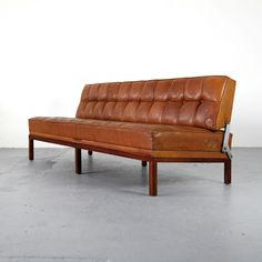 Leather Sofa Mod Constanze by Johannes Spalt for Wittman 60s | Leder Daybed 60er