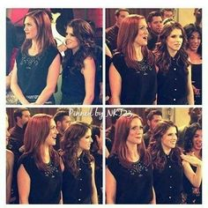 I haven't posted in ages, so enjoy some bechloe Anna Kendrick Pitch Perfect, Pitch Perfect Movie, Chloe, Anna Camp, Brittany Snow, Tv Couples, Celebs, Celebrities, Movie Characters