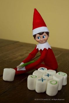 TicTacMallow 383x575 20 Elf on the Shelf Ideas with Shopping List and Daily Planner