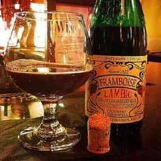 Lindemans Framboise Lambic Beer at the Press Restaurant in Claremont, California