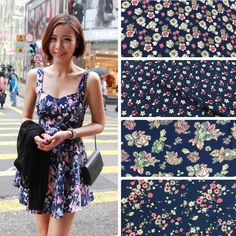 140cm wide Summer quality carving printing artificial cotton viscose fabric for diy clothes Free shipping DNJB35 #Affiliate