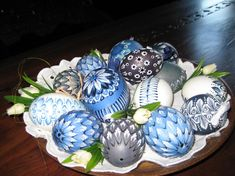 Traditional Easter egg decorations #Easter #Slovakia
