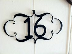Decorative Metal House Number Plaque - Metal Address Plaque - Metal Home Decoration