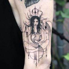mother earth tattoo ideas - List of the most beautiful tattoo models Heidnisches Tattoo, Wicca Tattoo, Witchcraft Tattoos, Unalome Tattoo, Snake Tattoo, Tattoo Outline, Nature Tattoo Sleeve, Nature Tattoos, Body Art Tattoos