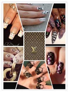 Louis Vuitton nails #LVNails