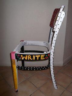 Custom Teacher's Chair - Right Side