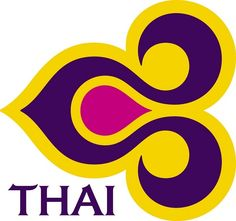 Thai Airlines logo = 25 Best Airlines Logo Designs for inspirational
