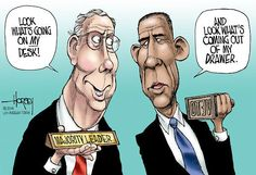 Embedded image permalink It won't make a difference with the Reps taking control of the Senate.Obama still holds the veto pen. #Political Cartoons