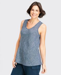 FLAX Design's Sunshine FLAX 2015 Bias Vee at Fg Clothing is on sale! #FLAXdesign women's linen sleeveless top