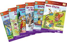 LEAP FROG SCHOOL<br / />LeapFrog Tag/LeapReader Learn To Read Phonics Book Set 4 Advanced Vowels - 4 - 7 Years , PACKAGE 6 Ct