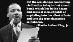 Martin Luther King Jr. Quotes on the dangers faced by modern scientific society and Tim Keller on the cure.