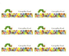 The Very Hungry Caterpillar Food Tents, Place Cards, Labels ...