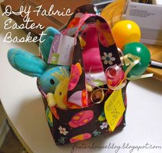 DIY Fabric Basket Tutorial...Great little basket for the nieces & nephews for the egg hunt.