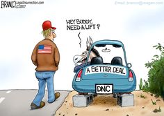 The Democrats are trying to repackage oil failed ideas that have never worked to the benefit all Americans. Political Cartoon by A.F. Branco ©2017.