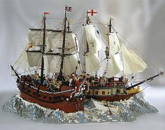 This Lego pirate ship diorama is ARRRRsome!