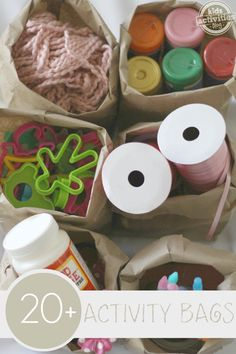 Activity bags for quiet play