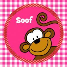 Geboortekaartje dieren aap meisje 006 JippieJippie