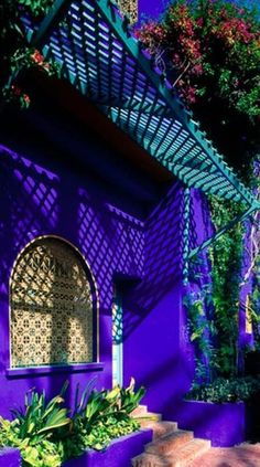 Colorful house in Marrakesh, Morocco
