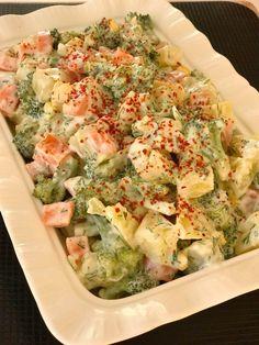 YOĞURTLU BROKOLİ SALATASI Best Vegetable Soup Recipe, Hearty Vegetable Soup, Vegetable Recipes, 21 Day Fix, Healthy Soup, Healthy Recipes, Turkish Salad, Moroccan Vegetables, Healthy Vegetables