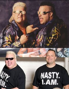 Pro Wrestlers Back In The Day And Today  The Nasty Boys (gotta love the glasses)