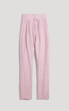 Relaxed fit trousers in our Ditsy Flower print on silk linen with front pleats and wide waistband. Zip-up fly with hook & bar closure. Slanted pockets at the front and single slit pocket at the back right. Sits at the waist. #rachelcomey