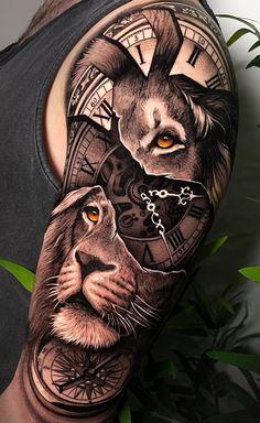 Leo Lion Tattoos, Lion Forearm Tattoos, Wolf Tattoos Men, Cute Tattoos On Wrist, Mens Lion Tattoo, Arm Tattoos For Guys, Lion Tattoos For Men, Lion Arm Tattoo, Animal Tattoos For Men