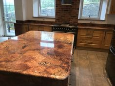 Juparanà Bordeaux Granite is a red/ peach stone with a inconsistent vein and irregular size grain. Granite Worktops, Kitchen Worktops, Granite Kitchen, Ogee Edge, Red Peach, Butcher Block Cutting Board, Bordeaux, Profile, Ideas