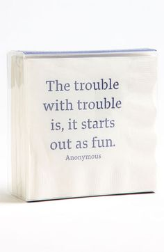 Ben's Garden 'The Trouble with Trouble' Cocktail Napkins | Nordstrom