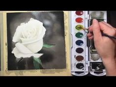 This tutorial will walk you through drawing and painting a white rose with watercolor. All you need is a set of watercolors, watercolor paper, paper towel, a...