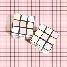 Pastel Rubik's cube.