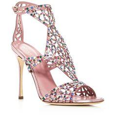 0c2bf346011 Swarovski Crystal Tresor Gladiator High Heel Sandals ( 1