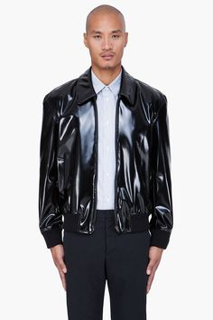 Maison Martin Margiela Black Faux Leather Jacket for men
