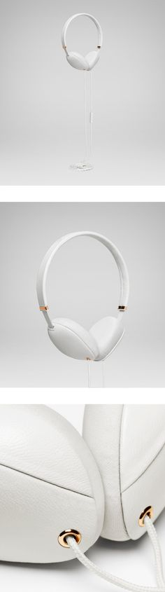 Plica Napa White & Copper - MOLAMI headphones Approaching headphone design as fashion / clothing.