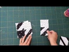 Black and white quilt Mini Quilts, Scrappy Quilts, Shabby Chic Quilts, Black And White Quilts, Half Square Triangle Quilts, Youtube, Toot, Quilting Tutorials, Quilt Blocks