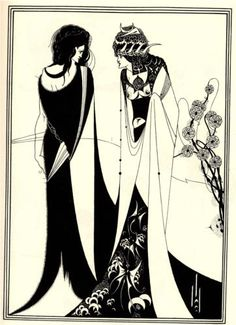 Salome with her mother - Aubrey Beardsley