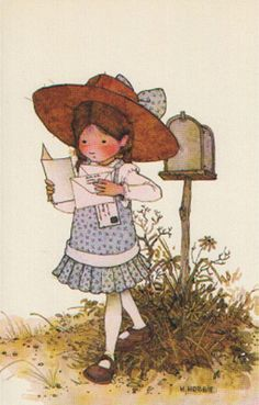 Holly Hobbie - Got a letter. Holly Hobbie, Toot & Puddle, Pocket Letter, Applique Pillows, Mail Art, Cute Illustration, Clipart, Paper Dolls, Childhood Memories