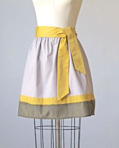 Citron and Grey Skirt from AtelierSignature on Etsy