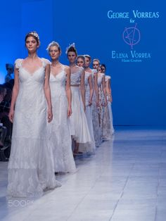 George & Elena Vorea at Bridal Fashion Week 2016