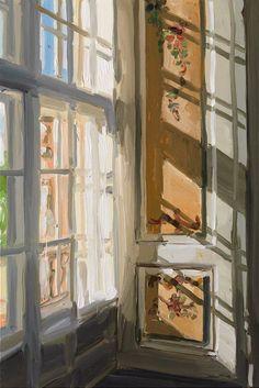"amare-habeo: ""Jan De Vliegher (Belgian, born Window, 2010 Oil on canvas, 165 x 110 cm "" The light Art Inspo, Painting Inspiration, Bel Art, Arte Peculiar, Arte Van Gogh, Arte Sketchbook, Ouvrages D'art, Art Et Illustration, Art Hoe"
