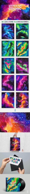 Watercolor Cosmic Backgrounds