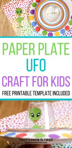 Alien and UFO Paper Plate Craft for kids - Easy Alien and spaceship craft for preschoolers and kids. #kidscrafts Easy Preschool Crafts, Easy Toddler Crafts, Toddler Preschool, Toddler Activities, Paper Plate Crafts For Kids, Easy Crafts For Kids, Spaceship Craft, Everything Preschool, Spider Crafts