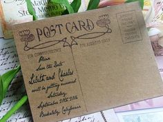 Save the Date handwritten letter by sweetinvitationco
