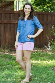 Stitch fix, I love these Dear John Finnegan Roll Chino shorts and Market and Spruce Chambray shirt! ~sarah